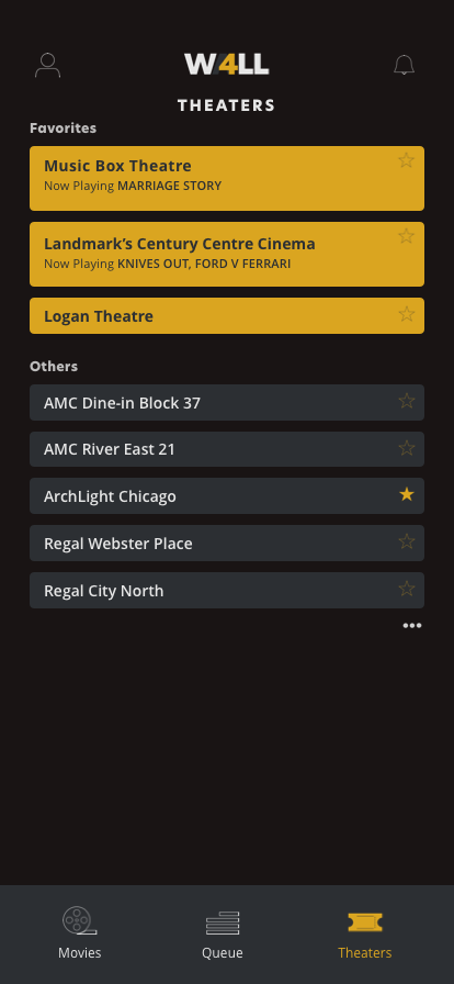 Theaters – New Favorite Added